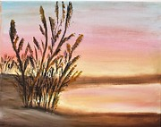 Panama City Beach Painting Prints - Beachweeds  Print by Susan Hart