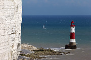 Chalk Cliffs Art - Beachy Head lighthouse by James Brunker