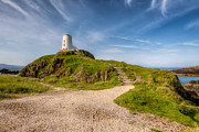 Gravel Prints - Beacon at Llanddwyn Print by Adrian Evans