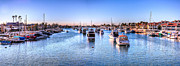 Balboa Island Framed Prints - Beacon Bay Framed Print by Jim Carrell