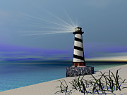 Coastline Digital Art - Beacon by Corey Ford