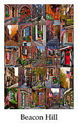 Autumn Scenes Metal Prints - Beacon Hill - Poster Metal Print by Joann Vitali