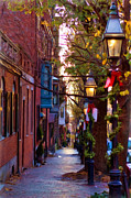 Lamp Post Framed Prints - Beacon Hill Streets Framed Print by Joann Vitali