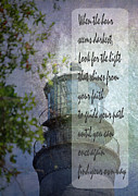 Sympathy Metal Prints - Beacon of Hope Inspiration Metal Print by Judy Hall-Folde