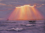 Moment Painting Originals - Beacons Of Light by Cindy Lee Longhini