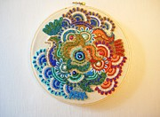 Pattern Tapestries - Textiles Originals - Beaded Embroidery #1 by Sarah Blevins