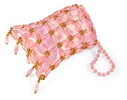 Evening Handbag Prints - Beaded satin purse Print by Jo Ann Snover