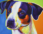 Dawgart Painting Originals - Beagle - Lady Baillee by Alicia VanNoy Call