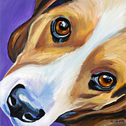 Beagle Paintings - Beagle by Melissa Smith
