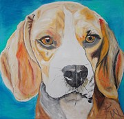 Police Paintings - Beagle by PainterArtist FIN