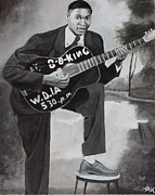 Black Tie Paintings - Beale Street Blues Boy by Patrick Kelly