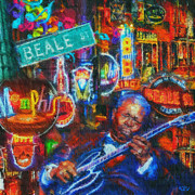 Jazz Paintings - Beale Street Blues by Kevin Rogerson