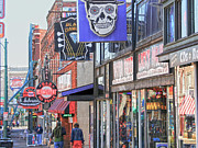 Tennessee Landmark Prints - Beale Walk Print by Suzanne Barber