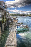 New England Village Prints - Beals Lobster Pier Print by Robert Saccomanno