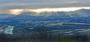River View Photo Metal Prints - Beaming March Shenandoah Metal Print by Lara Ellis