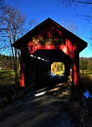 Wood Bridges Photos - Bean Blossom Bridge 2 by Mel Steinhauer