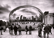Millenium Park Framed Prints - Bean Stalking Framed Print by Peter Chilelli