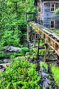Grist Mill Art - Beans Gristmill and Sawmill by JC Findley