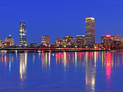 Prudential Center Photo Prints - Beantown City Lights Print by Juergen Roth