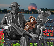 Photography By Thomas Woolworth Prints - Bear and His Mentors Walt Disney World 05 Print by Thomas Woolworth
