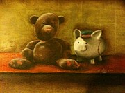 Old Toys Originals - Bear and piggy by Michael Alvarez