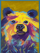 Fanciful Pastels Metal Prints - Bear Beautiful Metal Print by Diana Tripp
