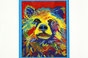 Fanciful Pastels Metal Prints - Bear Beauty Metal Print by Diana Tripp
