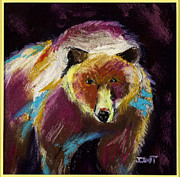 Fanciful Pastels Metal Prints - Bear Beware Metal Print by Diana Tripp