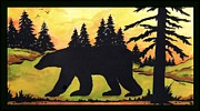 Bear Creek Silhouette Print by MarLa Hoover