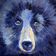 Kodiak Paintings - Bear Face by Nancy Merkle
