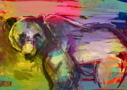 Bears Digital Art - Bear Form by James Thomas