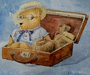 Gea Scheltinga - Bear in suitcase