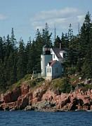 Bear Island Lighthouse Print by Kathleen Struckle