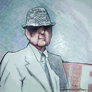 Bear Bryant Drawings Posters - Bear Poster by Jerrett Dornbusch