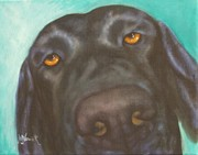 Black Lab Mixed Media - Bear by M J Venrick