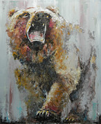 Financial Prints - Bear Market Print by John Henne