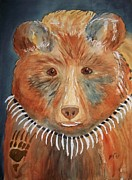 Claw Paintings - Bear Medicine by Ellen Levinson