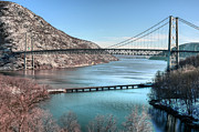 Snows Photo Acrylic Prints - Bear Mountain Bridge Acrylic Print by JC Findley