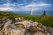 West Virginia Photos - Bear Rocks Rainbow by Joseph Rossbach