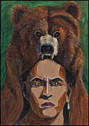 Aboriginal Art Paintings - Bear Shaman by Laureen McMullan