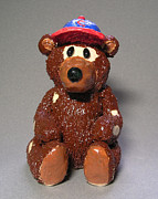Baseball Ceramics - Bear with no Hair by Jeanette K
