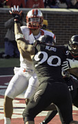 Bearcats Photos - Beard Gets a Sack by Tom Climes