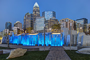 Uptown Charlotte Art - Bearden Blue by Chris Austin