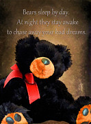 Teddybear Posters - Bears Sleep By Day Poster by Darren Fisher