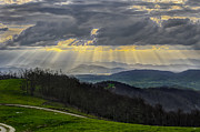 Bearwallow Mountain Sun Rays Print by Ken Lane