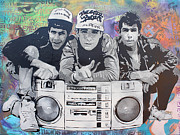 Pop Art Paintings - Beastie Boys by Josh Cardinali