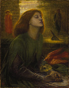 Rossetti Painting Framed Prints - Beata Beatrix 1870 Framed Print by Dante Gabriel Rossetti