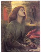 Rossetti Painting Framed Prints - Beata Beatrix Framed Print by Dante Gabriel Rossetti