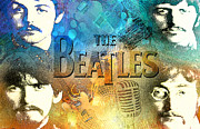 Starr Digital Art - Beatle Montage by Greg Sharpe
