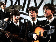 Beatles Digital Art - Beatlemania by Digital  Hiccup